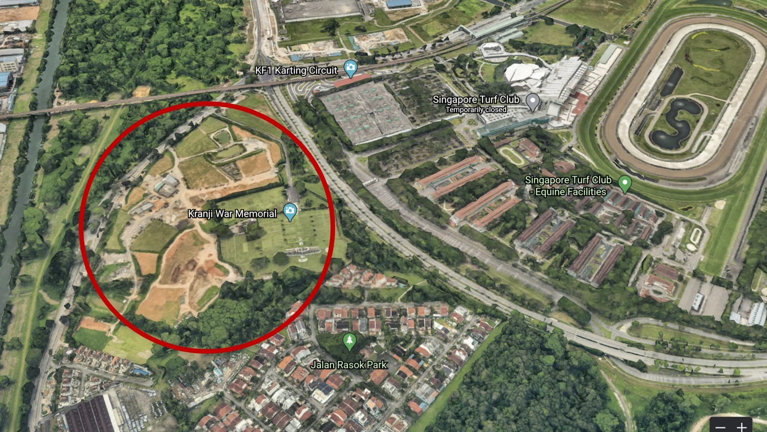 Part of Kranji forest is gone