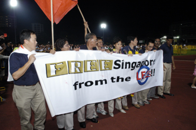 SDP calling for Singapore to be freed from the Lees in the last elections